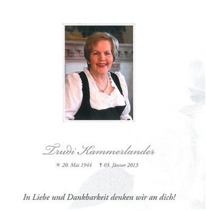 In memory of Trudi Kammerlander