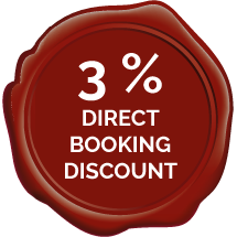 3 % Direct booking discount