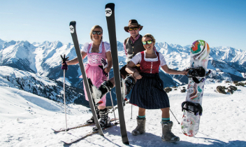 » Traditional leather pants wedeln-skiing